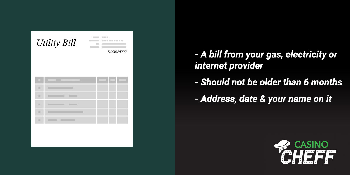 Verification through Utility Bill